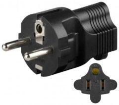 US-jack CEE 7/4-Stecker<br>Stromadapter - Goobay