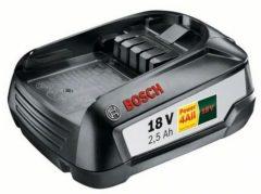 Zwarte Bosch accessoire Bosch Lithium-Ion accu / batterij - 18 Volt - 2,5 Ah - Cordless family concept - exclusief oplader