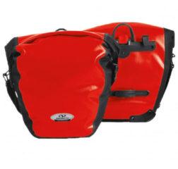 Norco Bags - Arkansas Hinterradtasche - Bagagedragertas maat 2 x 20 l, rood/zwart