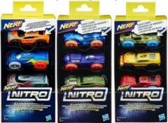 Nerf Nitro Foam Car Refill - Schuimauto's 3 stuks navulling - assorti geleverd