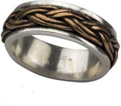 Gouden Etnox Keltische knoop 925 zilveren ring met brons maat 68