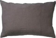 Antraciet-grijze Dutch Decor Kussenhoes Linn 40x60 cm Charcoal Gray