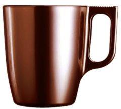 Bruine Luminarc Koffie beker bruin