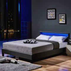 Home Deluxe LED Bett Astro 140x200, dunkelgrau