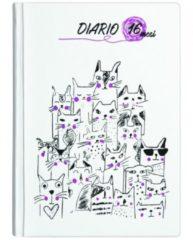 Nobrand Diario 16 mesi Kats Bianco 13x17,8 cm