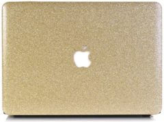 Gouden Lunso hardcase hoes glitter goud voor de MacBook Air 13 inch