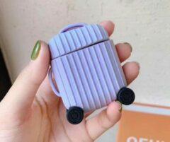 Hidzo Hoes Voor Apple's Airpods - Koffer - Paars