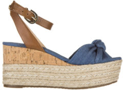 Blue Michael Kors Zeppe sandali donna in cotone maxwell mid