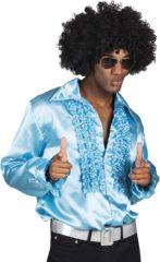 Boland 3 stuks: Party shirt - turquoise - XL - maat 54-56