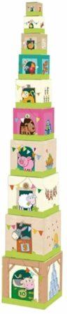 Afbeelding van HABA Mijn eerste speelwereld - Boerderij - Stapelblokken op de boerderij