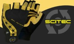 Gele Scitec Nutrition - Trainingshandschoenen - Mannen - Workout Gloves - Power Style - S