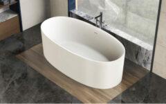 Ideavit Solidcliff vrijstaand bad 175x88cm Solid surface mat wit 290229