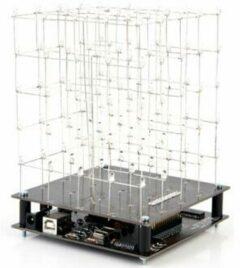 Velleman K8018W LED-cube bouwpakket Uitvoering (bouwpakket/module): Bouwpakket 9 V/DC
