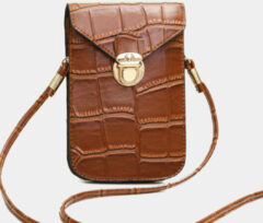 Gouden Newchic Vintage Alligator 6.3 inch Phone Bag Crossbody Bag