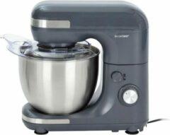 Antraciet-grijze SILVERCREST SILVERCREST® Keukenmachine Antraciet - 650 W - Mengkom van 5 Liter - Voorzien van Teflon® anti-aanbaklaag - 8 standen