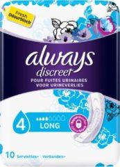 Always Discreet voor urineverlies en incontinentie Long - Voordeelverpakking 100 Stuks - Maandverband