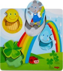 Haba voelpuzzel muis 25 x 25 cm polyester 5-delig