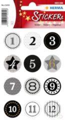 HERMA 15255 sticker Papier Zwart, Goud, Grijs Permanent 24 stuk(s)