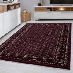 Marrakesh Laagpolig Vloerkleed - Nador - Rood - 80 x 150 cm - Vintage, Patchwork, Scandinavisch & meer stijlen vind je op WoonQ.nl