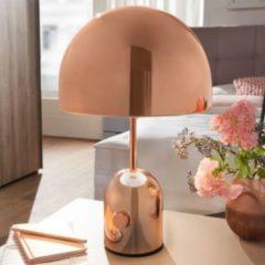 Wohnling Design Tischleuchte OHRI Metallschirm-Lampe dimmbar Nachttischlampe Kupfer Metalllampe E27 bis 60W Leselampe 1-flammig Ø 28 cm Tischlampe