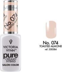 Roze Gellak Victoria Vynn™ Gel Nagellak - Gel Polish - Pure Creamy Hybrid - 8 ml - Toasted Almond - 074