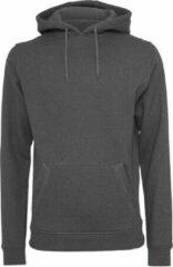 Build Your Brand Heren Zware Pullover Hoodie (Houtskool)