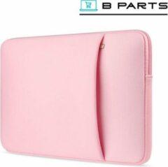 BParts - 13 inch Extra vak Laptop sleeve - Beschermhoes laptop - Laptophoes - Extra zachte binnenkant - Lichtroze