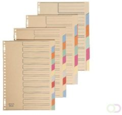 Bruna Tabbladen Esselte A4 23-gaats karton 6-delig assorti