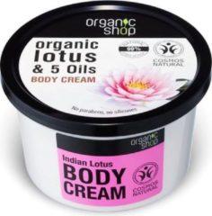 Organic Shop Biologische Lotus & 5 Oliën Lichaamscrème Indische Lotus 250ml