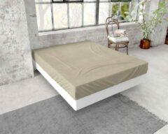 Zachte Flanel Eenpersoons Hoeslaken Taupe | 90x200/210 | Warm En Comfortabel | Slimme Pasvorm