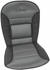 Grijze Carpoint stoelkussen Comfort 90 x 45 cm zwart/grijs