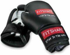 Fitshape (kick)bokshandschoenen leder zwart