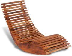 Bruine Merkloos / Sans marque VidaXL Ligbed schommelend acaciahout