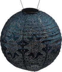 Blauwe Lumiz Solar Lampion Marrakesh Rond - 30 cm - Petrol