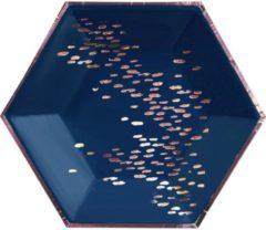 Blauwe Kartonnen borden - Erika - Harlow & Grey - 20cm - 8 stuks