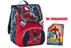 SEVEN Zaino The Amazing Spiderman 2 -estendibile - 2 Scompartimenti + 2 Tasche Anteriori