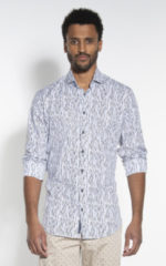 Witte Blue Industry Casual shirt met lange mouwen