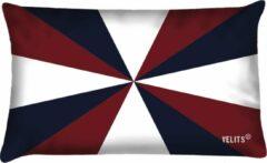 Donkerblauwe Velits outdoor Buitenkussen vlag Geus patroon