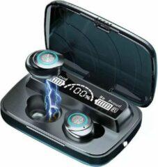 TWS - Draadloze oortjes / in-ear oordopjes - Bluetooth Draadloze buds - Power bank Luxe indicator & Zaklamp in 1 - Geschikt voor alle smartphones o.a Samsung & Iphone, airpods, galaxy buds, huawei, sony - Zwart.- AANBIEDING!