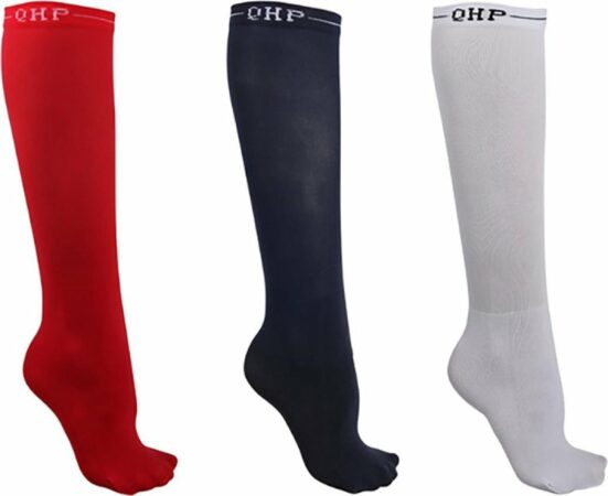 Afbeelding van Qhp Showsokken Color 3pack - Red-white - 35-38