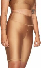 Röhnisch - Women's Shiny Bike Tights - Short maat L, beige/bruin