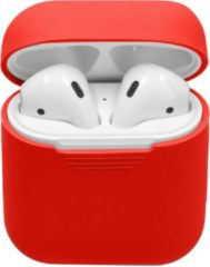 Merkloos / Sans marque Siliconen Case Voor Airpods - Rood - Rood / Red