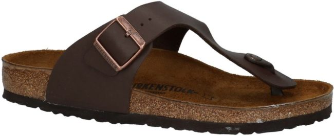 Afbeelding van Donkerbruine Birkenstock Ramses - Slippers - Dark Brown - Regular - Maat 46