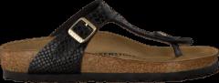 Zwarte Birkenstock Papillio Slippers GIZEH