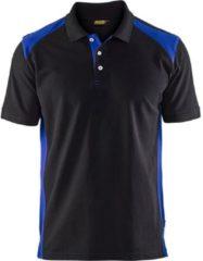 Blåkläder Blaklader pique polo 3324-1050 zwart/korenblauw mt XL