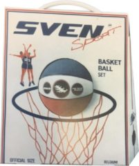 Witte Basketball set Sven sport