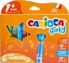Carioca viltstift Baby Teddy, doos van 6 stuks in geassorteerde kleuren