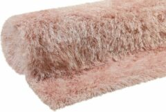 Hoogpolig roze vloerkleed 133x200 Esprit