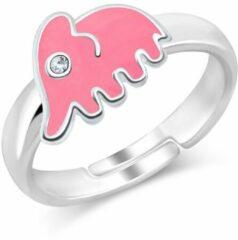 JYC Joy|S - Zilveren roze olifant ring verstelbaar