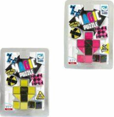 Clown Games Clown Magic Puzzle 3d 24 Dlg Geel + Puzzle 3d 24 Dlg Roze